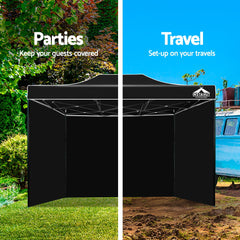 Instahut 3x4.5m Outdoor Gazebo - Black