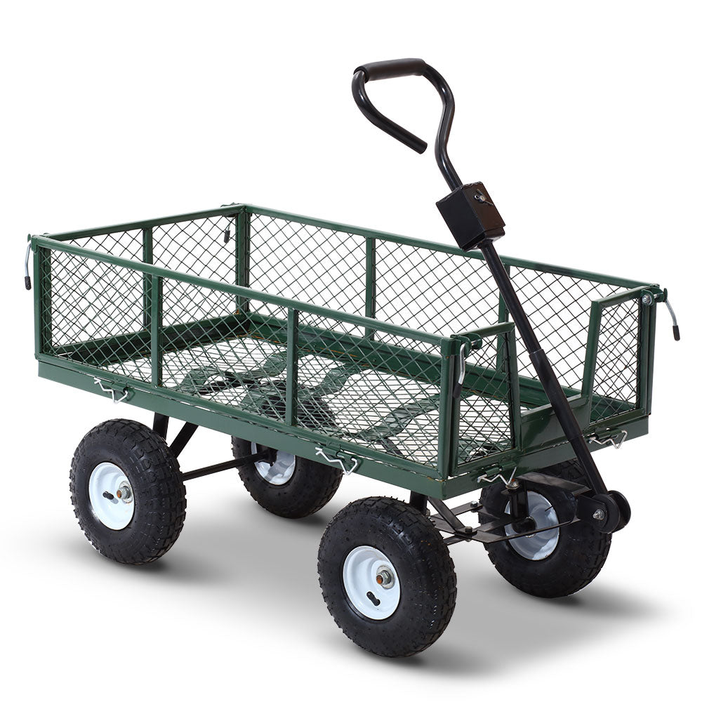 Gardeon Mesh Garden Steel Cart - Green