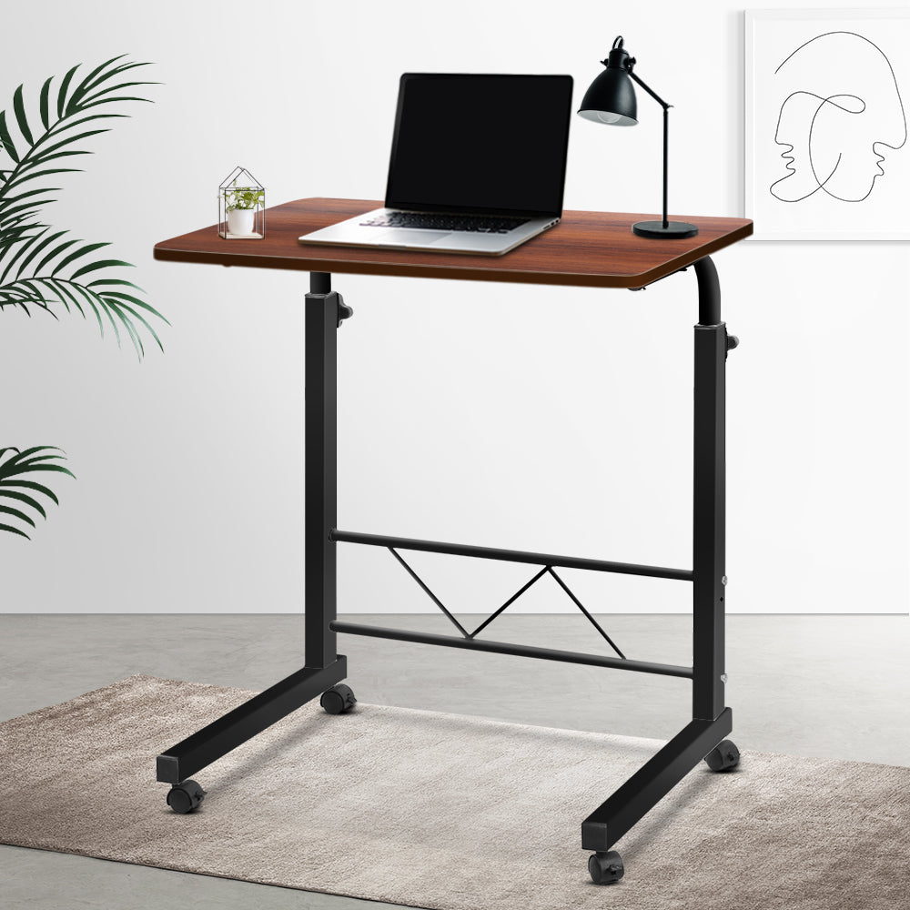 Mobile Twin Laptop Desk - Dark Wood