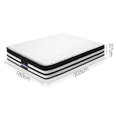 Giselle Bedding Rostock Euro Top Pocket Spring Mattress 27cm Thick – King