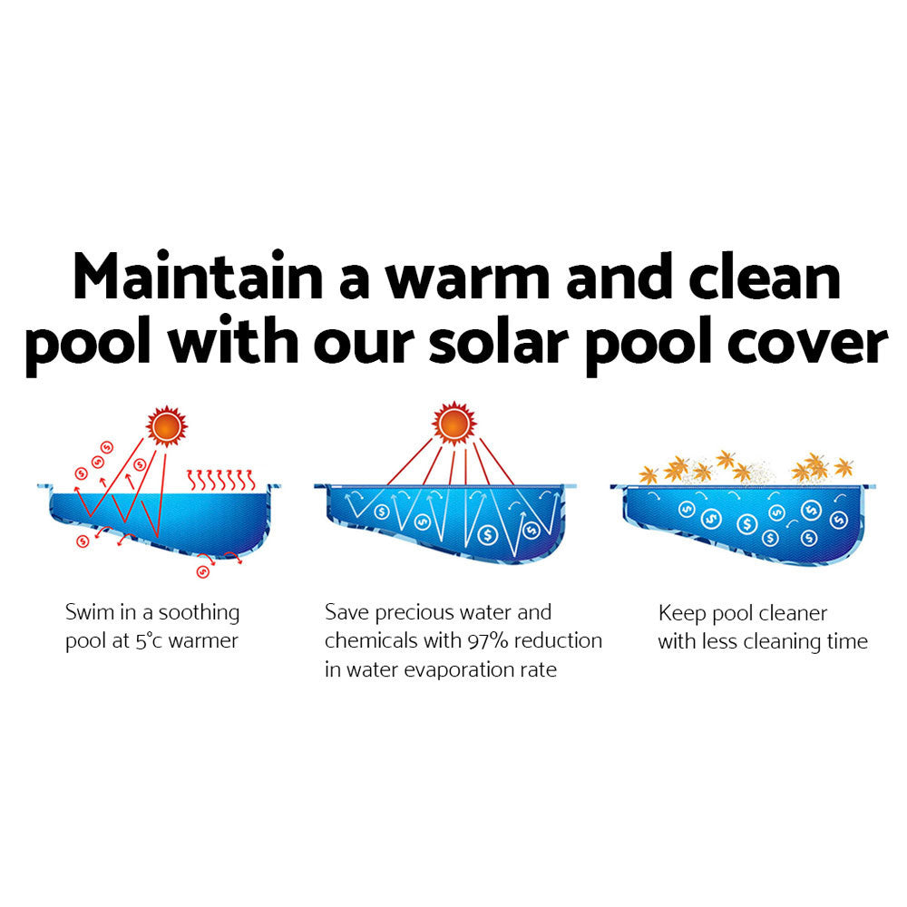Aquabuddy 7M X 4M Solar Swimming Pool Cover – Blue
