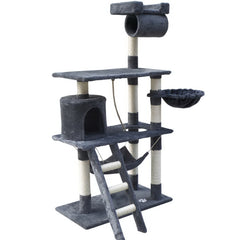 i.Pet Cat Tree 141cm Trees Scratching Post Scratcher Tower Condo House Furniture Wood