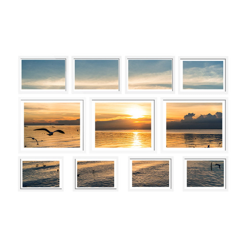 11 PCS Photo Frame Wall Set Collage Picture Frames Home Decor Present Gift White