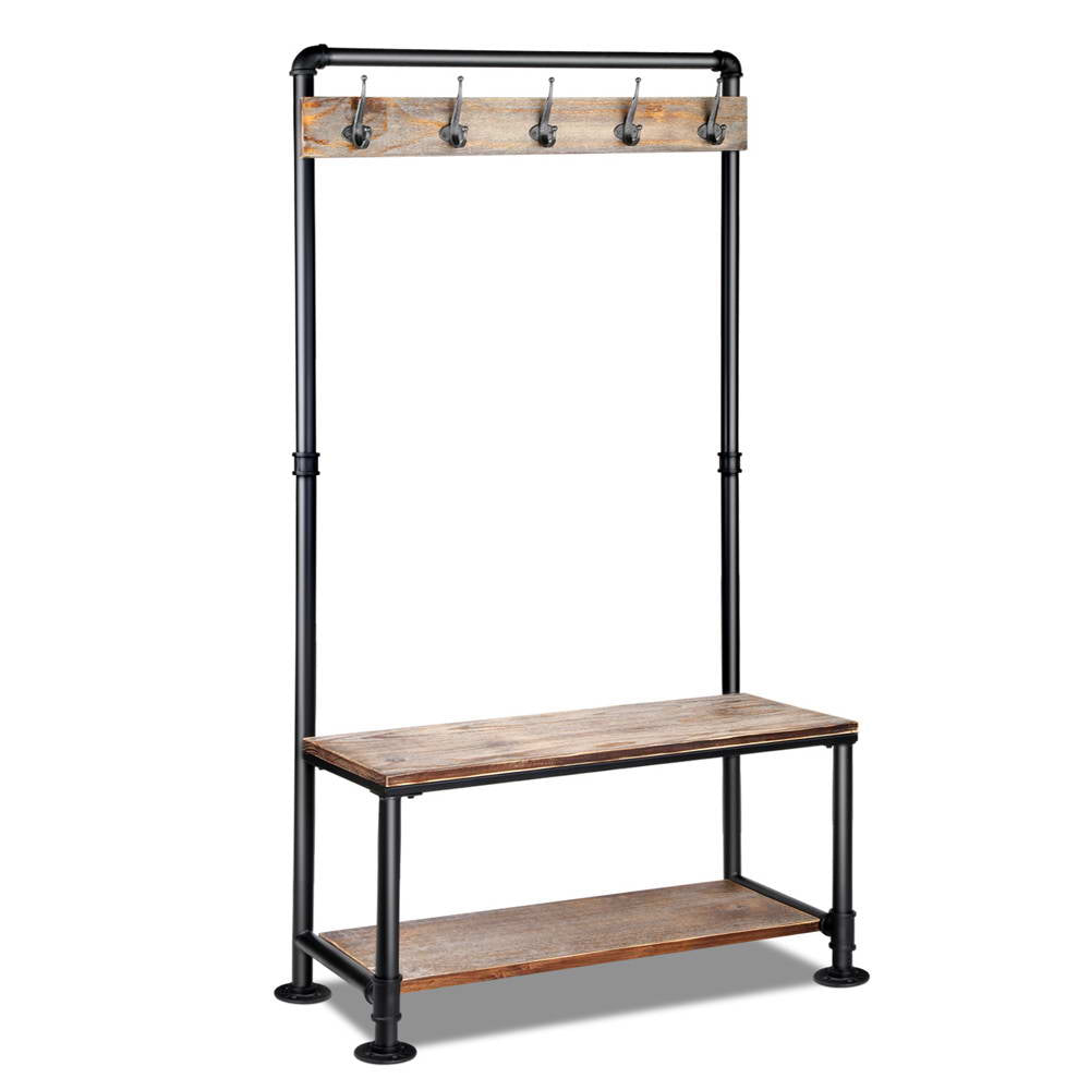 Sale -  Pipe Shoe Rack & Coat Hanger Hallway Entry Shelf