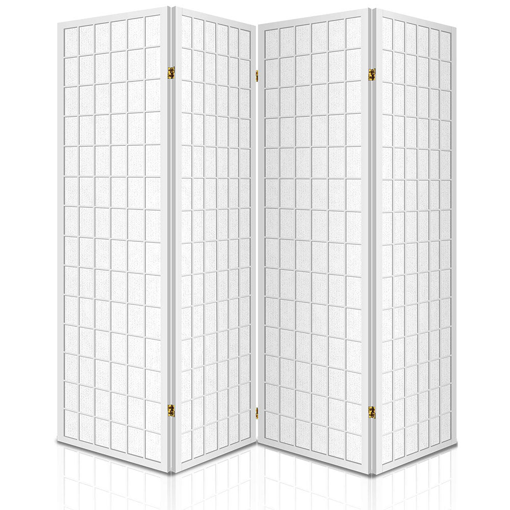 Artiss 4 Panel Wooden Room Divider - White