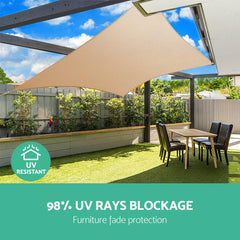 Instahut 280gsm 3x3m Sun Shade Sail Canopy Rectangle