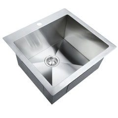 Cefito Stainless Steel Kitchen Sink 530X500MM Under/Topmount Sinks Laundry Bowl Silver