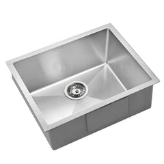 Cefito Stainless Steel Kitchen Sink 540X440MM Nano Under/Topmount Sinks Laundry Silver