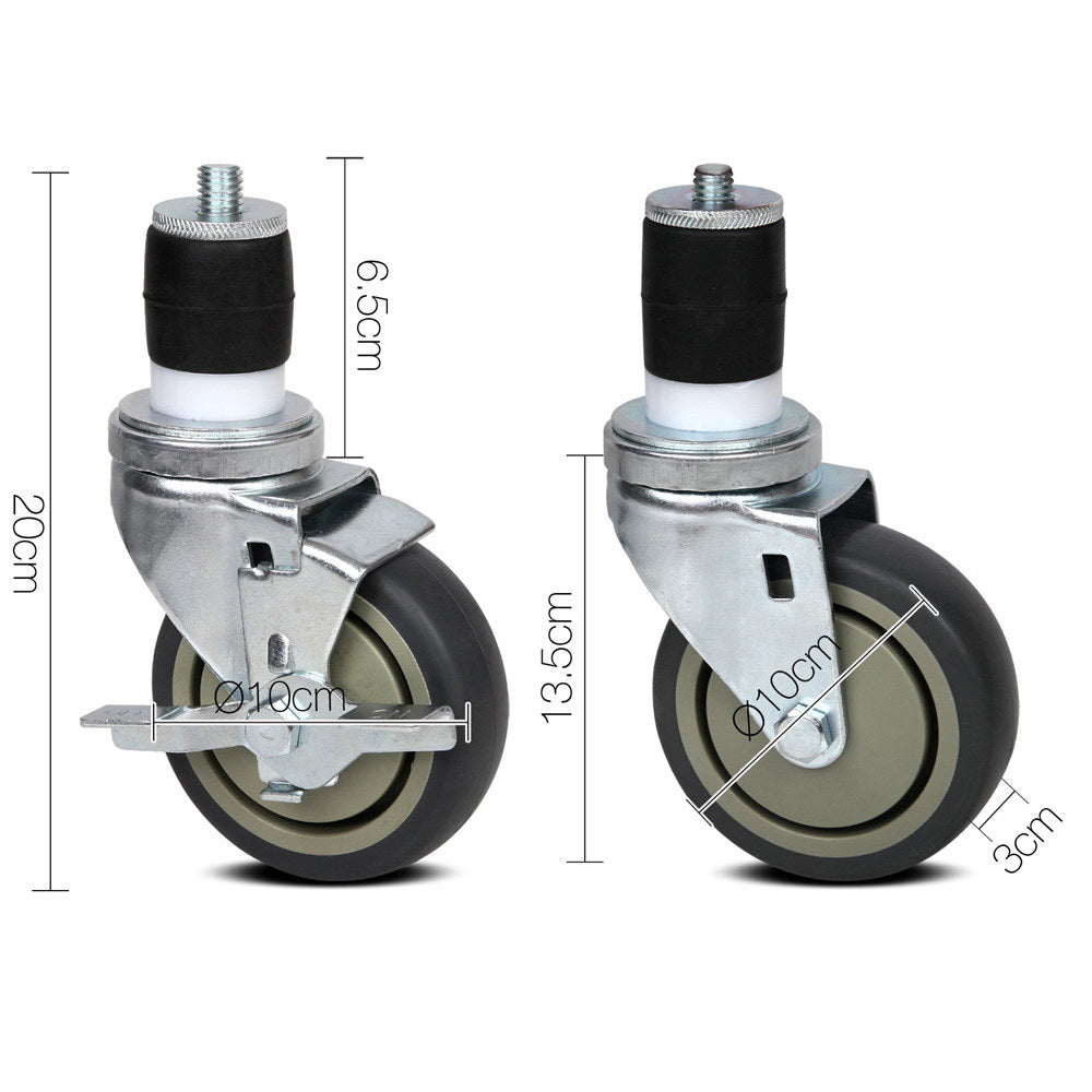 Cefito Set of 4  Swivel Castor Wheels