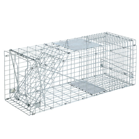 Humane Animal Trap Cage 66 x 23 x 25cm  - Silver