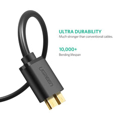 UGREEN USB 3.0 A Male to Micro USB 3.0 Male Cable 2m (Black) 10843
