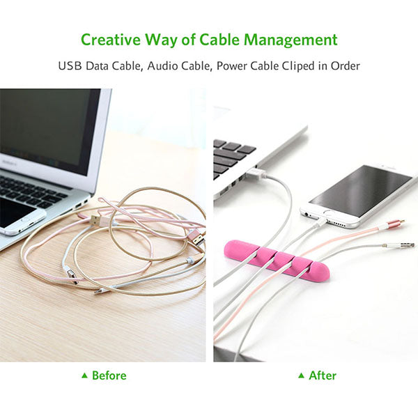 UGREEN Cable Organizer (2pcs/pack) - Pink (30483)