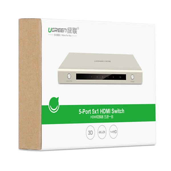 UGREEN HDMI 5 x 1 Switch Zinc Alloy (40279)
