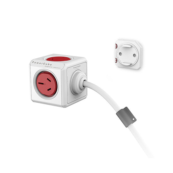 ALLOCACOC POWERCUBE Extended Boston Red 5 Outlets with 1.5M CABLE