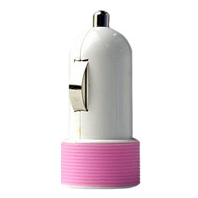Huntkey Compact Car Charger for iPad & Smart Phone 5V 2.1A with MFI Cable - Pink (HKB01005021-0B)