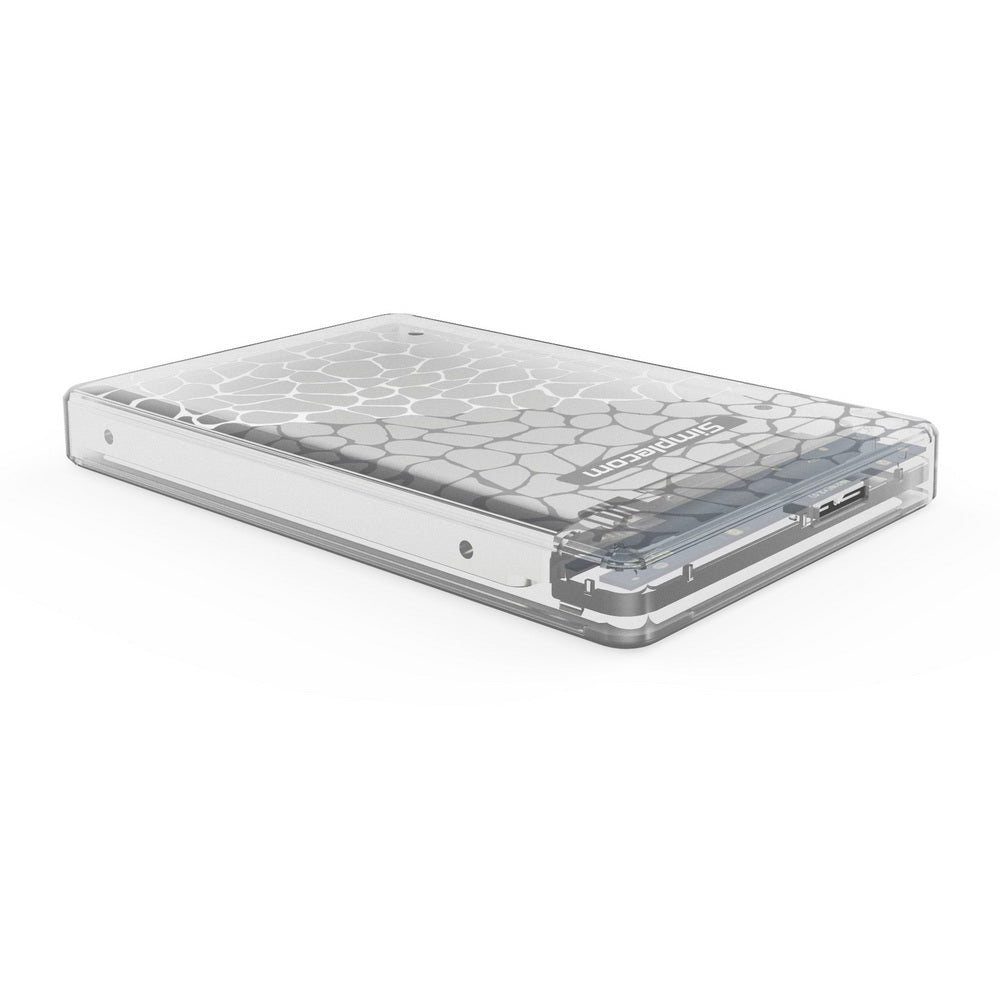 Simplecom SE101 Compact Tool-Free 2.5'' SATA to USB 3.0 HDD/SSD Enclosure Transparent Clear