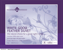 Single Quilt - 100% White Goose Feather