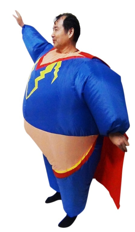 Super Hero Fancy Dress Inflatable Suit -Fan Operated Costume