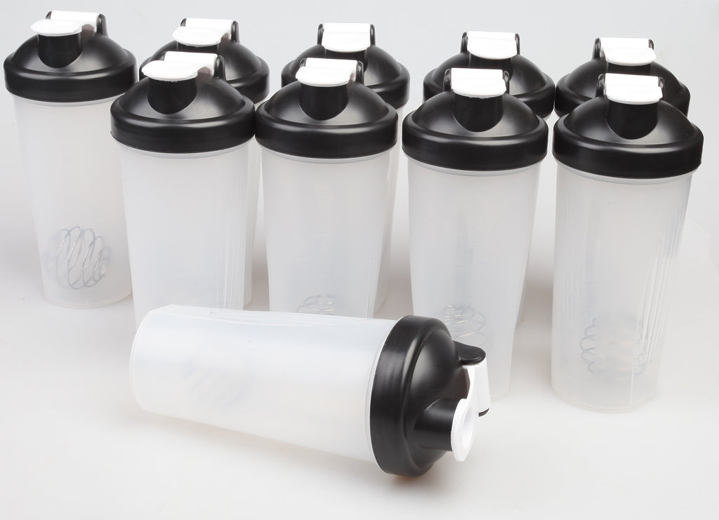 10x Shaker Bottles Protein Mixer Gym Sports Drink