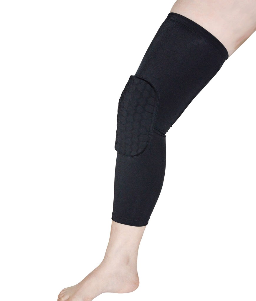 Knee Sleeve Guard Support Brace Sport Compression Calf Running