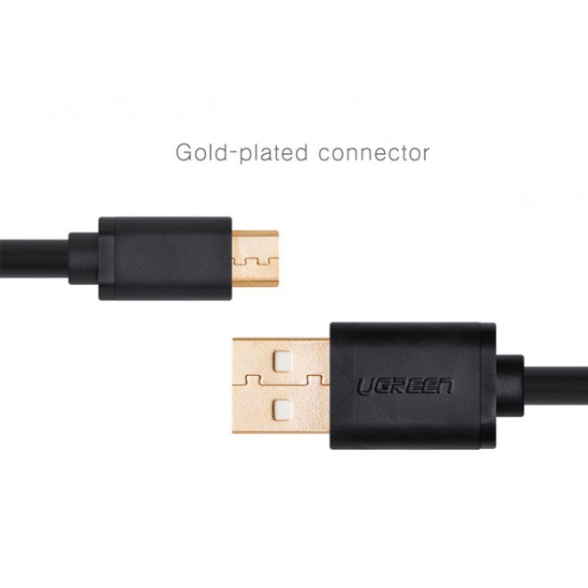 UGREEN Micro USB Male to USB Male cable Gold-Plated - White 1M (10848)