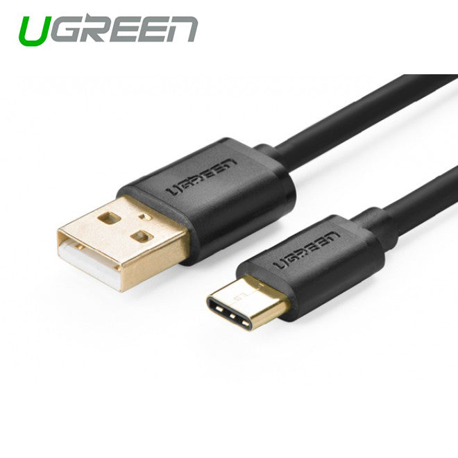 UGREEN USB 2.0 Type A Male to USB 3.1 Type-C Male Charge & Sync Cable - White 1M (30165)
