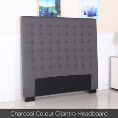 Cilantro Queen Charcoal Headboard