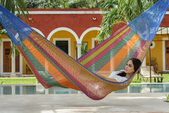 Queen Size Cotton Hammock in Mexicana