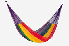 Queen Size Cotton Hammock in Rainbow