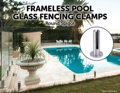Frameless Pool Glass Fencing Clamps Spigots