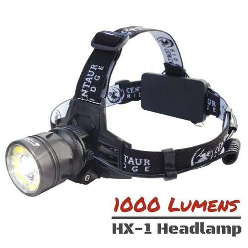 Centaur Ridge HX-1 Rechargeable Headlamp | 1000 Lumen