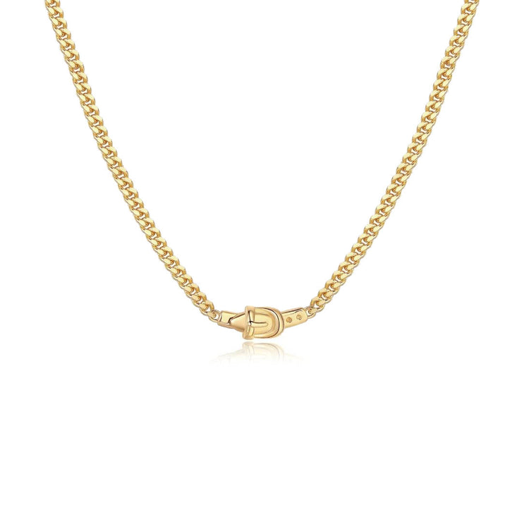 Jessica Alizzi Gold Buckle Necklace