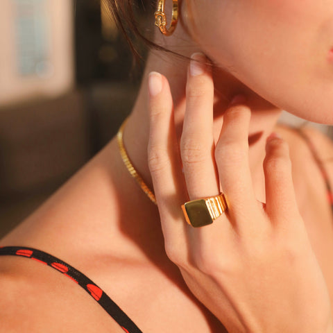 Jessica Alizzi Gold Buckle Ring