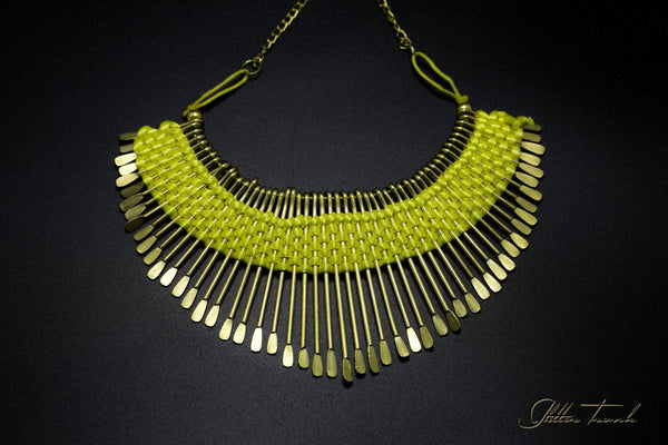 Artisan Necklace Tribal Weave Choker