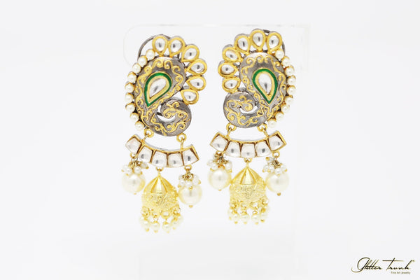 Bridal Earrings Salma Embellished Peacock Inspired Earrings
