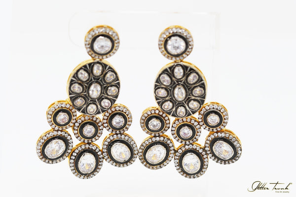 Empress Earrings Nargis Victorian Inspired Polki Earrings