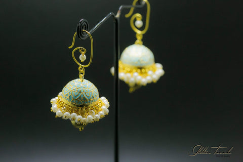 Fusion Earrings Azure Chandeliers Earrings