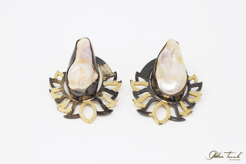 Wearable Art Earrings Adriana Baroque Pearl Antique Earrings
