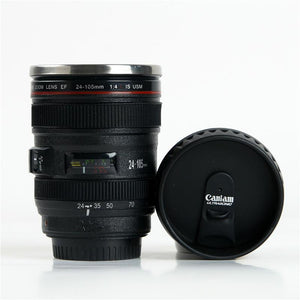 CAMERA LENS COFFEE THERMOS