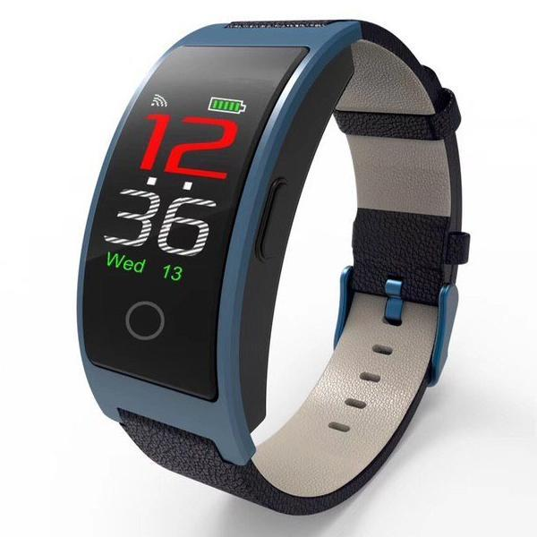 The Best Smart watch in 2019 - Measure Blood Pressure & Heart Rate in Real Time - Elegant Blue