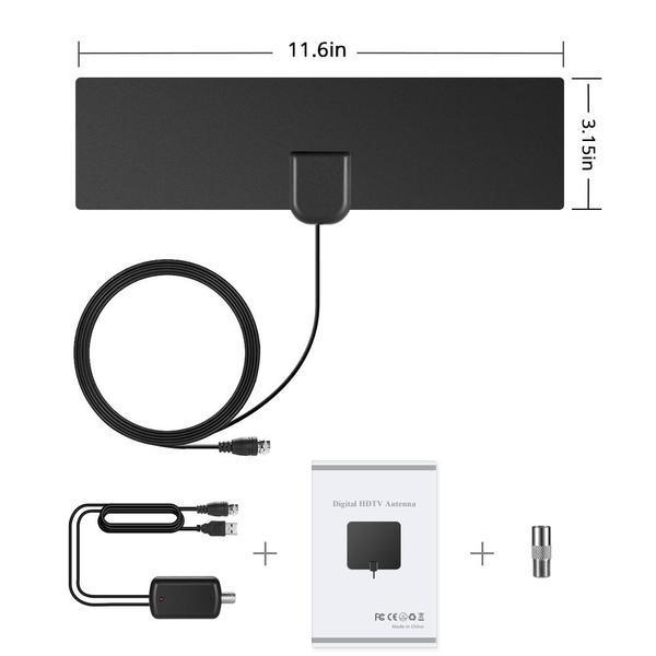NEW! HDTV Antenna with Amplifier Signal Booster Indoor