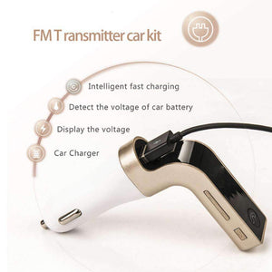 Bluetooth Car Kit - 4-in-1 Wireless Bluetooth Car - Make Calls, Listen Music & Charging With The Same Tool