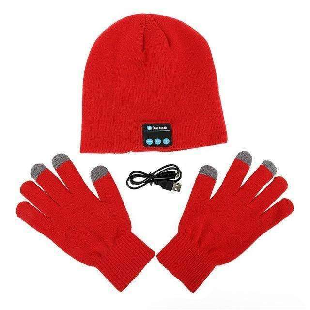 Earphones & Headphones - Bluetooth Beanie With Touch Screen Glove - Enjoy The Music And Keep You Warm In Winter!