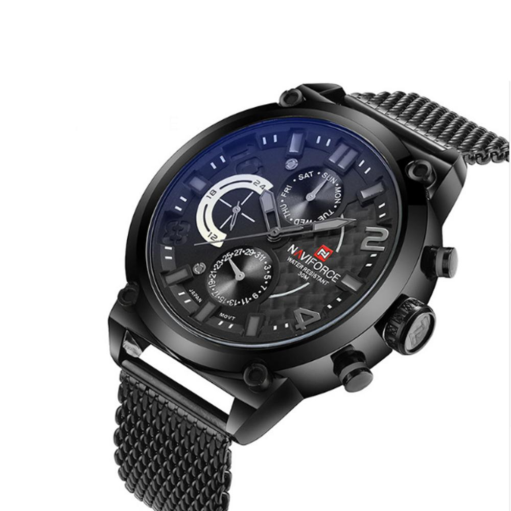 Men Sport Full Steel Wrist Watch - Entertaining your Time
