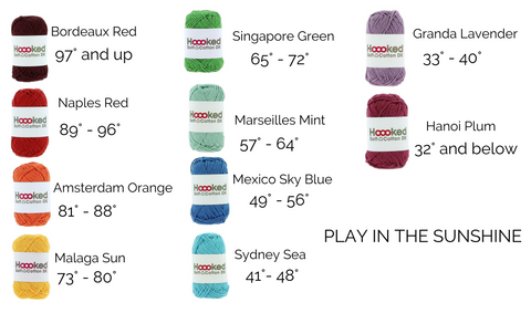 Color Combos for Temperature Blankets Made with Recycled Eco-Friendly Yarn