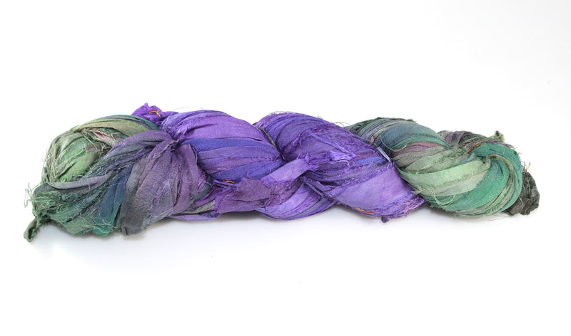 Recycled Sari Silk Ribbon - Grapevine
