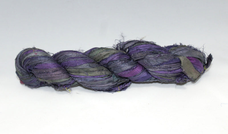 Recycled Sari Silk Ribbon - Wisteria