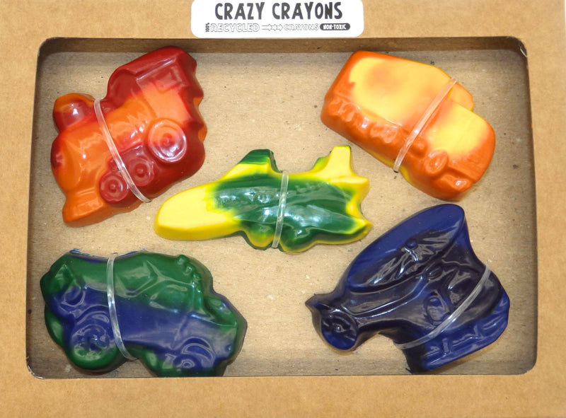 Crazy Crayons Transportation Recycled Crayon Set