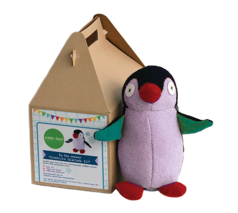 Penguin Stuffed Animal Craft Kit by Cate and Levi