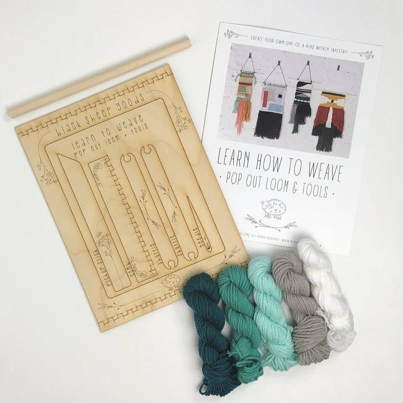 Tapestry Weaving Kit - Ocean - by Black Sheep Goods